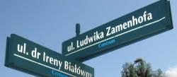 Gaten hvor Zamenhof ble født, og som nå bærer hans navn.