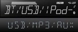 Noe av det jeg har slitt mest med når jeg har vurdert eventuell ny bilradio, er at jeg ofte blir møtt av en demovegg full av slike lavoppløste LCD-display med stor tekst på én linje. Hallo! Vi er i 2013, ikke 1990! De nye bilradioene som kommer nå med berøringsskjerm og navigasjon, har mye bedre oppløsning, men her er det også mye stygt grensesnitt. Jeg fant en jeg likte litt en gang, men der fikk jeg ikke til å slå av «tastelyden». Takk og farvel!