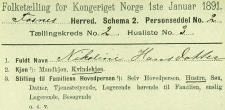 1891, personliste